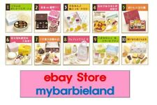 Re-ment Full Set of 10 ELEGANT SWEETS BARBIE SIZE MINIATURE FOOD 1/6 SCALE