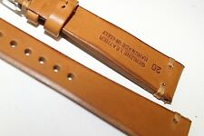 Sports Calf Bovine 20mm Genuine leather Hand Made in Italy cut Edges fits Omega