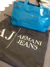 Armani Jeans Blue Patent Bag
