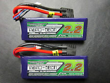 2 NANO 2200mAh 7.4 2S 35-70C LIPO TRAXXAS 1/16 E-REVO SLASH RALLY SUMMIT VXL TRX