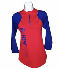 Nfl Womens Apparel - New York Giants Ladies Nfl  Zip Up Pullover Team Tee,nwt,SM
