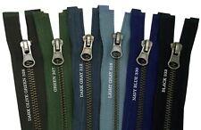 #5 Metal Zipper Fastener Antique Brass Heavy Duty Open End Single Slider Zip UK