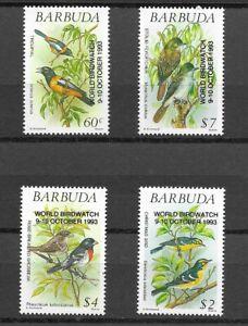 BARBUDA 1983 Overprint set of 4 Birds  MINT NH