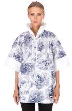 Adidas Stella McCartney Floral White Blue Pull-on Run Jacket Casual Roses Sz M