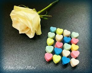 ~40 MINI HEARTS~  INSPIRED SOY WAX MELTS ~  HIGHLY SCENTED ~ HANDMADE ~ FRESH