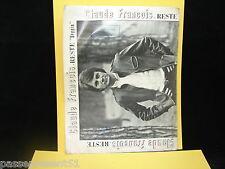 Ancienne partition, Claude François, Reste, Beggin, 1967