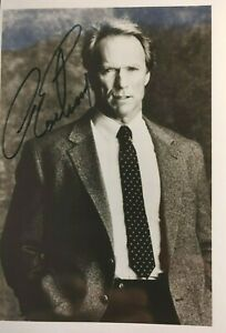 "Clint Eastwood 5x7"" signed 1980s b/w publicity photo"
