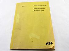ABB DCS 500 PROGRAMMING MANUAL INSTRUCTION BOOK DC DRIVES 25 TO 5150 A