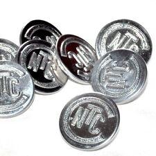 bouton vintage d'uniforme de la  CNTC métal argenté 22mm button