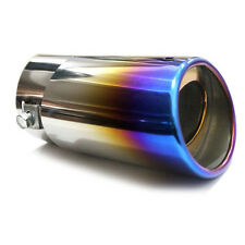 Car SUV Straight Stainless Steel Universal Rear Exhaust Pipe Tail Muffler Tip