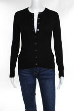 Vince Black Cashmere Long Sleeve Button Down Cardigan Size Extra Small