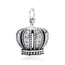 New Authentic Pandora Charm Crown Cubic Zirconia 390346CZ Pendant Box Included