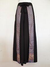 Ladies Wide Leg Pants Palazzo Sarong Bohemian Gypsy Hippie Trousers Wrap WPTS-BL