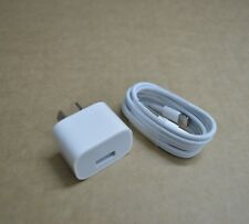 Genuine Apple USB Power Adapter Wall Charger + USB Cable for iPhone and iPad NEW