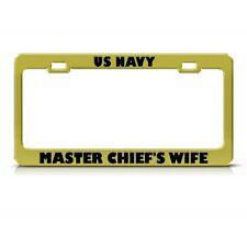 Chrome License Plate Frame United States Navy Chief Auto Accessory Novelty 206