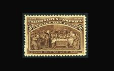 US Stamp Mint original gum, XF #234 Very lightly hinged with Jumbo Margins