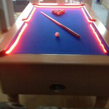 Snooker pool table lights lamps ebay bar billiard pool table bumper led rgb color changing lights remote controlled keyboard keysfo Image collections