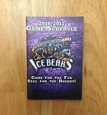 2016-17 KNOXVILLE ICE BEARS SCHEDULE SPHL HOCKEY POCKET SCHEDULE