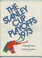 4/19 1973 Hockey Program Stanley Cup Playoffs Philadelphia Flyers Canadiens