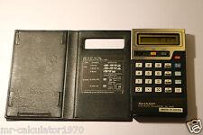Calculadora Electrónica Sharp EL-8147 Vintage con tiempo y alarma década de 1980