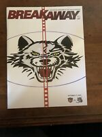 10/17/09 Chicago Wolves Program - Magazine Breakaway