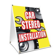 A-frame Sidewalk Sign Car Stereo Installation Double Sided Graphics