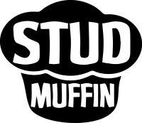 Stud Muffin Decal Window Bumper Sticker Car Decor Cupcake Cute Sexy Good Looking