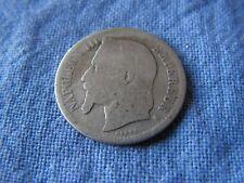 piece de 1 francs en argent   1866