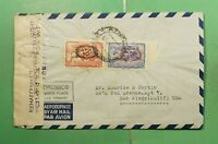 DR WHO GREECE OVPT AIRMAIL TO USA CENSORED  f98611