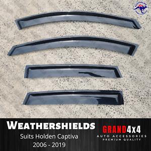Premium Weathershields Window Visors for Holden Captiva 2006 - 2019 Tinted