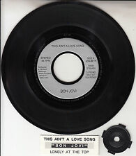 "BON JOVI  This Ain't A Love Song 7"" 45 rpm record + juke box title strip RARE!"