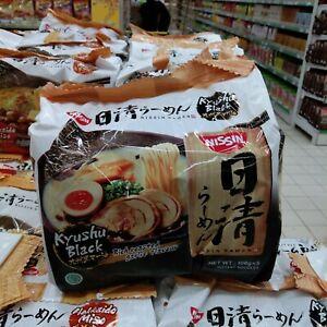 Nissin japanese ramen - kyushu black rich roasted garlic flavour (5 x 106g)