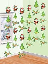 6 7ft Santa Xmas Tree Reindeer Hanging String Party Decorations Ceiling Window