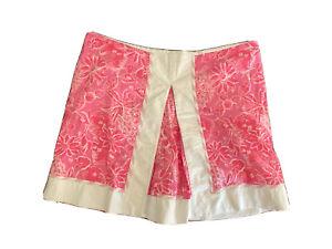Lilly Pulitzer Pink & White Floral Patterned Skort Size 10 Skort Beach Preppy