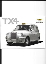 LTI TX4 TAXI SALES BROCHURE SEPTEMBER 2006 FOR 2007 MODEL YEAR