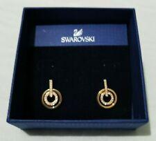 Swarovski Circle Mini Pierced Earrings Rose Gold 5084713 New