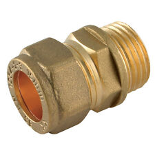 "10MM Compression Fitting - 1/2"" BSPP Parallel Male Metric Straight Brass"