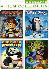 CHILDREN'S 4FILM COLLECTION Puss in Boots/Tappy Toes/Chop Kick Panda/The Frog...