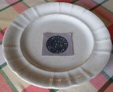 Très vieille grande assiette  « Mouzin Legat et Cie Nimy lez Mons ».