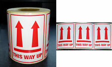 """100 Large THIS WAY UP Labels 71x102mm (3"""" x 4"""") Top Quality Self Adhesive Sticky"""