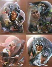 """I Am"" Series Set of 4 S/N Ltd Editions by Carole Bourdo - Native Spirits"