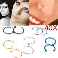 Wholesale 40pcs Bulk Multi Stainless Steel Nose Studs Ring Hoop Body Piercing LY