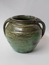 VINTAGE LARGE COLE MEDICINE APOTHECARY POT GREEN COLLECTIBLE ART POTTERY