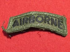 Subdued US Army Airborne Tab Patch