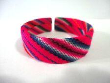 Peruvian Manta Bracelet Cuff Wristband Fabric Handmade Ethnic New Art Peru