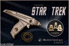 Phaser Rubber Band Gun With 'STAR TREK' Targets. Geekery Gift, Boyfriend Gift