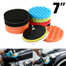 "11Pcs 7"" Inch 180mm Polishing Pad Sponge Buff Buffing Kit Set For Car Polisher"