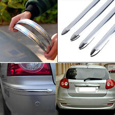 4x Silver Chrome Car Front Rear Bumper Protector Corner Guard Scratch Sticker To