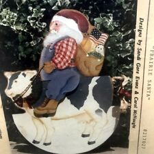 Roots & Wings Prairie Santa cow Tole Painting instruction pattern  Acrylic