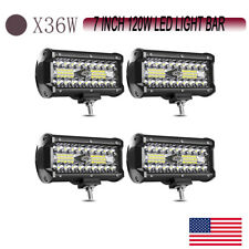 7Inch 120W LED Work Light Bar Spot Flood Off-Road Driving for SUV 4x4 ATV ty17